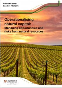Operationalising natural capital
