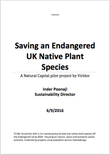 Saving an Endangered UK Native Plant Species
