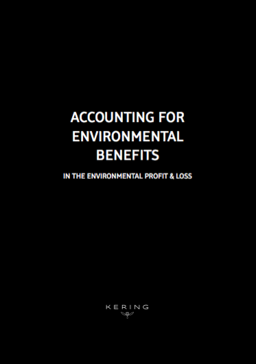 Accounting for environmental benefits in the environmental profit and loss