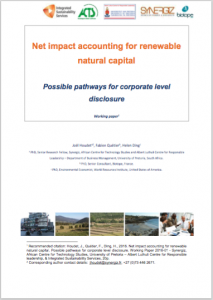 Net impact accounting for renewable natural capital